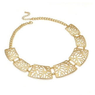 Vintage Inspired Gold Plated Ornate Filigree Choker Necklace