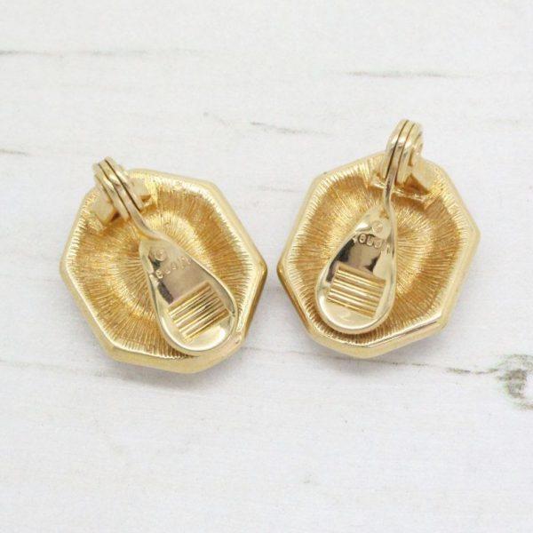 Elegant Gold & Crystal Set Monet Earrings
