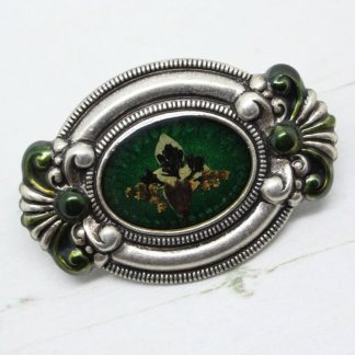 Signed French Pierre Bex Large Ornate Flowers Brooch