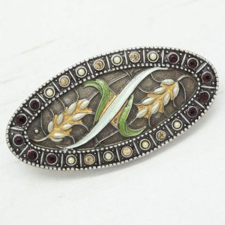 Pierre Bex Floral Harvest Corn Brooch Pin