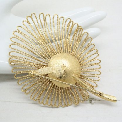 Vintage Golden Couture Monet Brooch