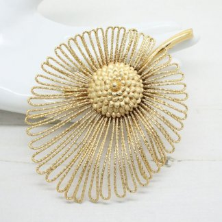 Vintage Golden Couture Monet Brooch