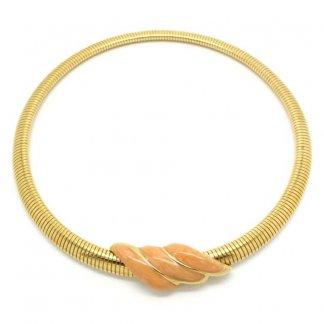 Vintage 1980s Signed Monet Enamel Collar Necklace