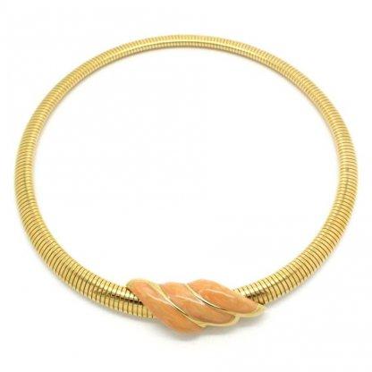 1980s Signed Monet Enamel Chocker Necklace