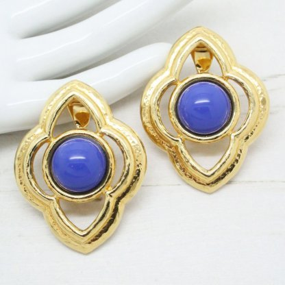 Large Statement Vintage Earrings By Monet
