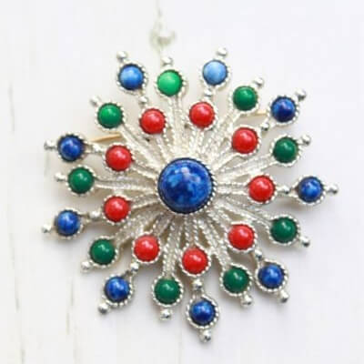 1970s Vintage Sarah Coventry Carnival Statement Brooch