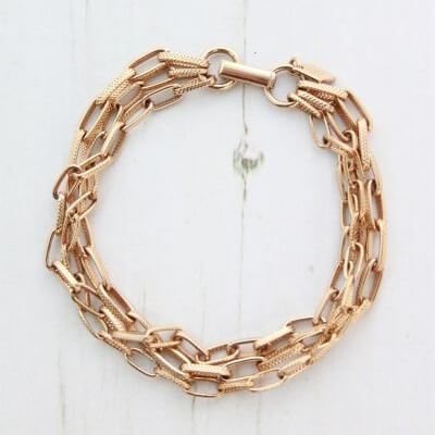 Sarah Coventry Gold Link Chain Bracelet