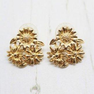 Sarah Coventry Vintage Summer Bloom Flower Earrings