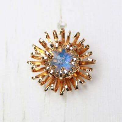 Swarovski Crystal Vintage Sarah Coventry Gold Tone Brooch