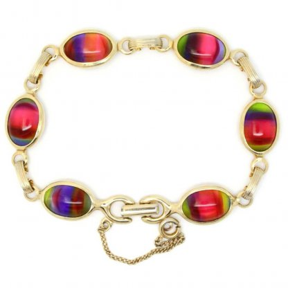 Summer Rainbow Harmony Glass Sarah Coventry Bracelet