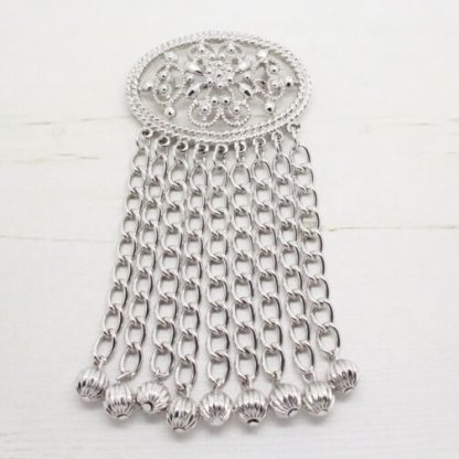 Vintage Bridal Jewellery Sarah Coventry Fashion In Motion Statement Silver Brooch