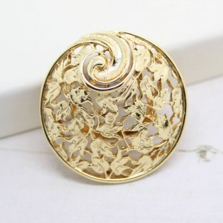 Ornate Decorative Sarah Coventry Whirlwind Scarf Clip