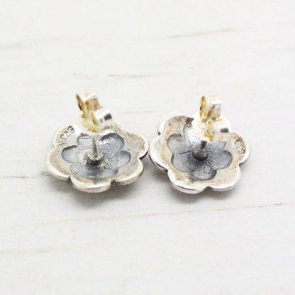 Vintage Style Sterling Silver Marcasite Flower Stud Earrings