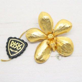 Risis Vintage Aeridovanda Vieng Ping Orchid Brooch