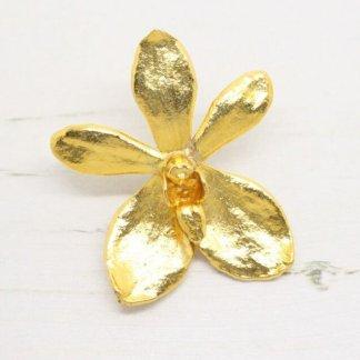 Risis Vintage Kagawara Firebird Orchid Brooch