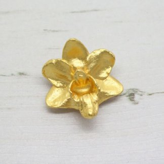 Risis Vintage Vieng Ping Orchid Brooch