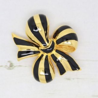 Signed Joan Rivers Vintage Bow Brooch Pin