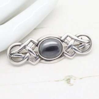 Celtic Sterling Silver Ornate Bar Brooch