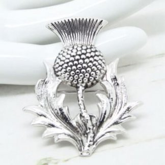 Vintage Signed DB Dawson Bowman Scottish Thistle Brooch Pin