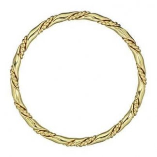 1980s Vintage Monet Gold Twisted Bangle