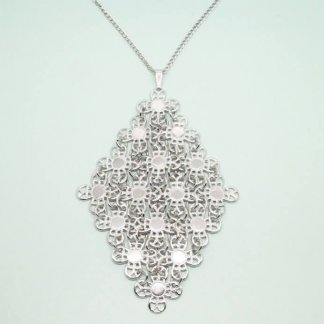 1970s 'Golden Petals' Silver Sarah Coventry Necklace