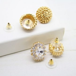 Slide On Disc Gold Plated Earring Backs (For Pierced Earrings)