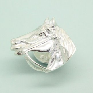 Sterling Silver Equestrian Horse Pin Brooch