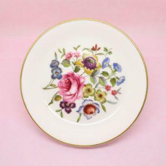Royal Worcester Flower Bouquet Trinket Dish