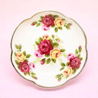 Vintage Wild Roses Trinket Dish