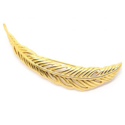 Statement Signed Monet Gold Feather Brooch Pin