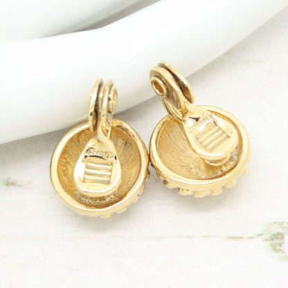 Finest Monet Textured Clip-On Earrings (Gold)