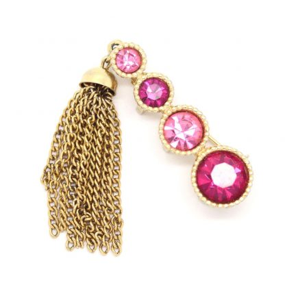 Sarah Coventry 'Saucy' Pink Rhinestone Brooch
