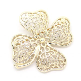 1960s Sarah Coventry Filigree Clover Brooch Pin