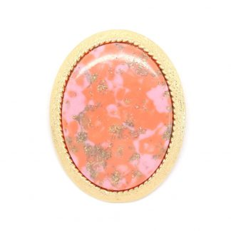Vintage Coraline Orange Peach Sarah Coventry Brooch
