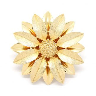 1960s Vintage Satin Petals Flower Brooch by Sarah Coventry