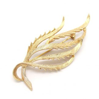 1960s Gold Tone Tailored Elegance Sarah Coventry Brooch Pin