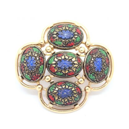 1960s Light Of The East Cabochon Sarah Coventry Brooch