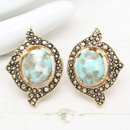 1960s Remembrance Cabochon Sarah Coventry Vintage Clip On Earrings
