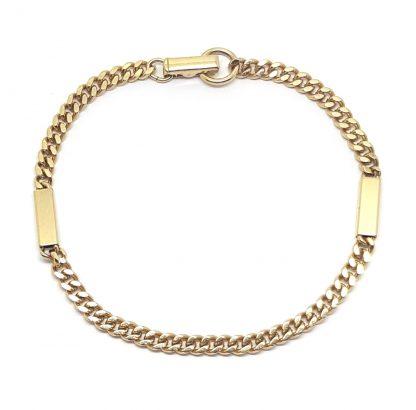 Vintage 1970s Sarah Coventry Minimalist Golden Bar Link Bracelet