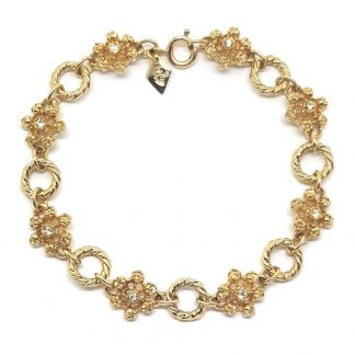 Vintage Sarah Coventry Diamante Circle Link Bracelet