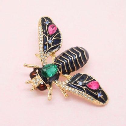 Beautiful Sapphire Moth Brooch