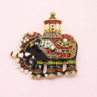 Decorative Royal Elephant Brooch