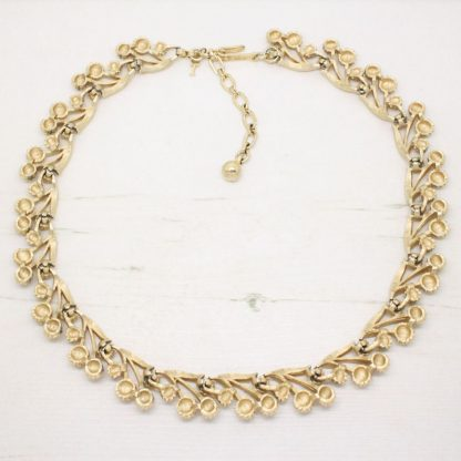 1960s Vintage Trifari Berry and Leaf Necklace