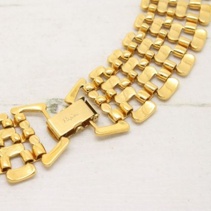 1980s Vintage Napier Watch Band Necklace