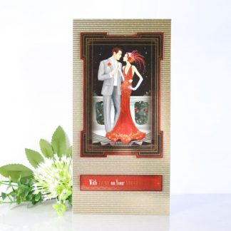Art Deco Lady - Special Day Tall Greetings Card