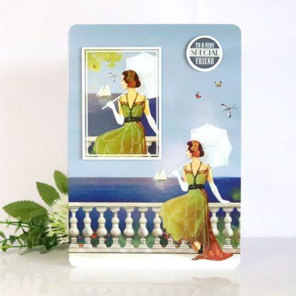 Art Deco Lady - Special Friend - Greetings Card