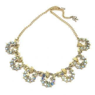 Beautiful 1960s 'Exquisite' Rhinestone Crystal Necklace