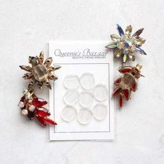 Stop The Pinch - Clip On Earrings Slide On Cushion Pad Backs (Large)