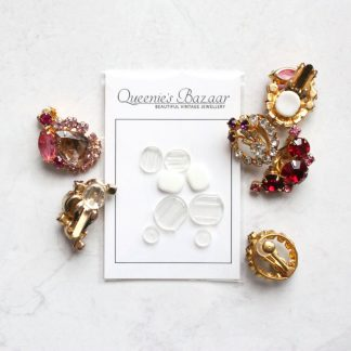 Stop The Pinch – Clip On Earrings Cushion Pad Backs (Mixed Sizes)