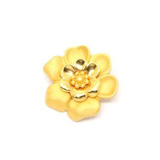 Vintage Signed Napier Gold Blossom Pin Brooch